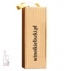 Ekologiczne pudełko na wino na wstążce