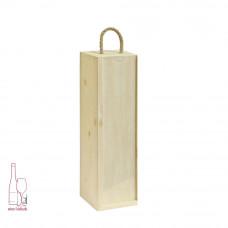 Kasetka drewniana pojedyncza w kolorze naturalnym – szuflada